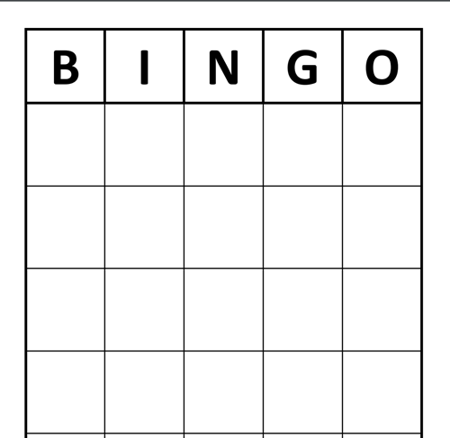 It is a photo of Mesmerizing Free Printable Blank Bingo Cards for Teachers